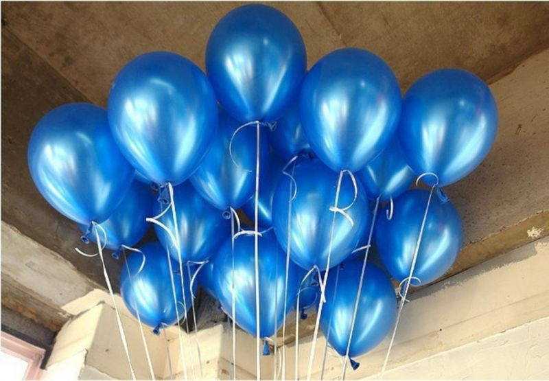Metallic Heliumballon gevuld