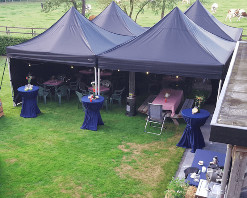 Partytent Easy-Up 4x4m Zwart