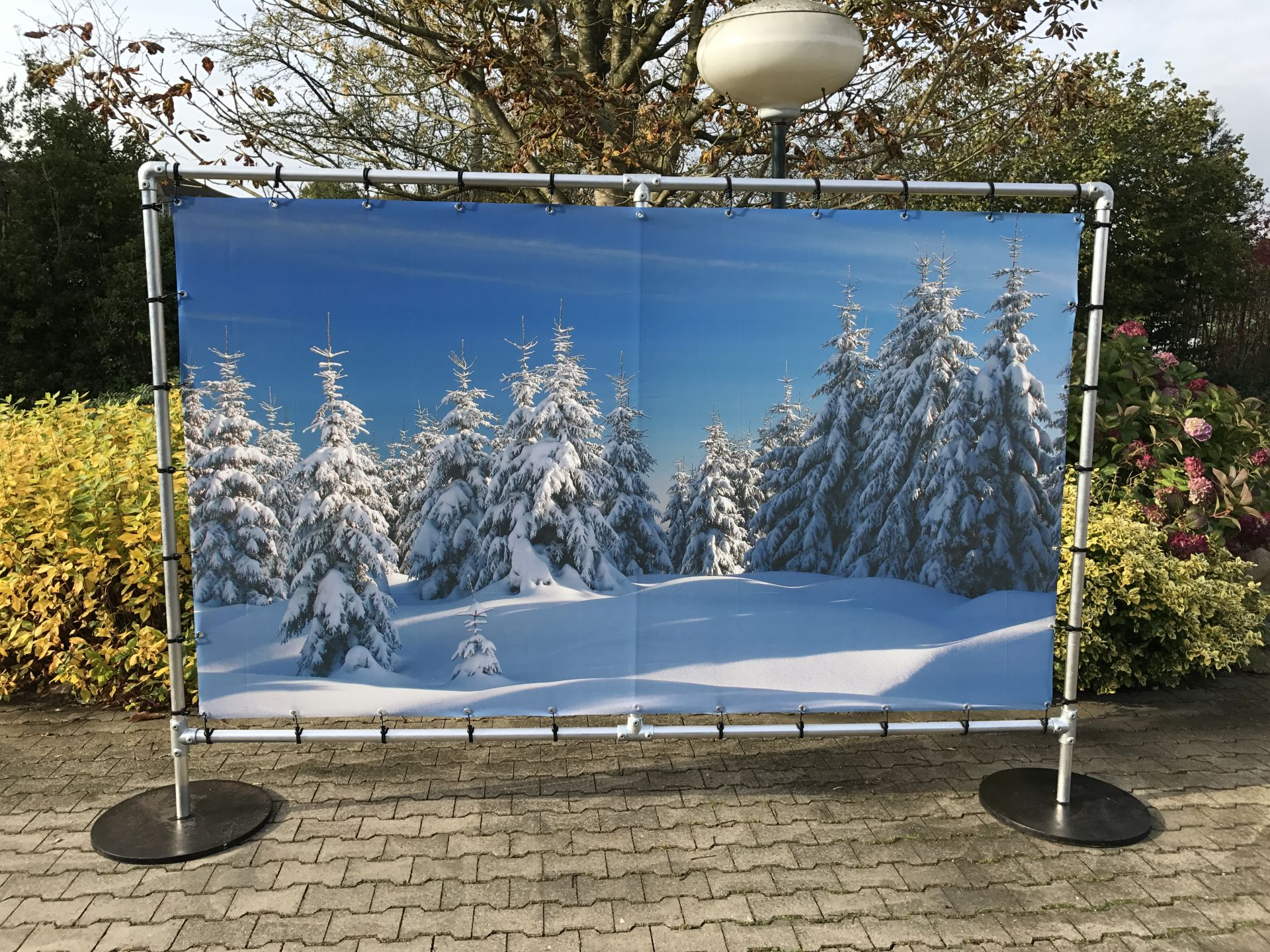 Decoratiewand Winter 2x3 meter