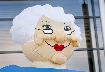 Opblaasbare feestpop Vrouw voor Pensioen