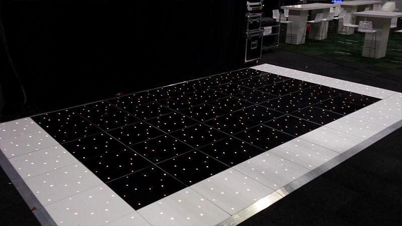 Black & White LED dansvloer
